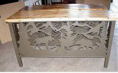 Moose - bear - mountain scene created in house at http://rusticironcreations.com