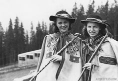 I think I need a hiking outfit like this! tracht women alps mountains funicular germany austria