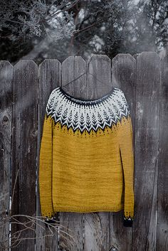 Vintersol by Jennifer Steingass, knitted by JaneMaeWren | malabrigo Rios in Frank Ochre and Paris Night and other yarn in Natural