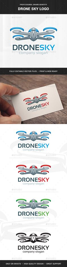 The Drone Sky Logo Template A Detailed And Stylish For Many Kinds Of Professional Business