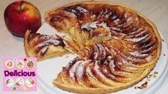Homemade Apple Tart Recipe - How to make apple tart - French easy apple tart - Delicious Apple Tart Recipe, Tart Recipes, Homemade, French, Breakfast, Cake, How To Make, Food, Pie Cake