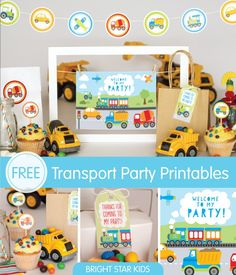 Free! Transport Party Printables For Your Little Boy's Birthday