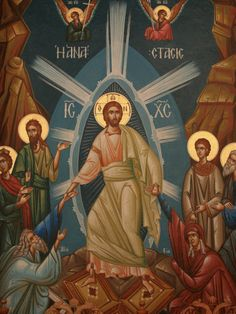 Greek Orthodox Icon of Christ's Resurrection, Thessalonica, Macedonia, Greece…
