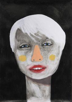 Guim Tió Zarraluki Face 1 - 2013 Mixed media on poster x Mixed Media, Face, Poster, Painting, Painting Art, Mixed Media Art, Paintings, Faces, Painted Canvas