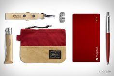 Opinel Folding Knife ($14). Tanner Goods Key Lanyard ($55). Head Porter Jackson Zip Wallet ($65). Secret Decoder Ring ($19). Mophie Powerstation ($80). Parker Jotter Ball Point Pen ($7)....