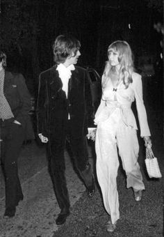 George and Pattie Boyd Harrison in Cannes, France for the premiere of Wonderwall (1968)