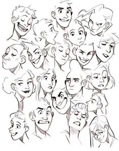 Ideas Drawing Reference Face Angles Facial Expressions For 2019 Face Drawing Reference, Art Reference Poses, Animation Reference, Photo Reference, Character Design Animation, Character Drawing, Character Design Tips, Character Design Tutorial, Boy Character