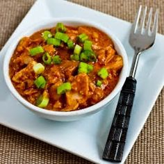 Recipe for West African Chicken and Peanut Stew with Chiles, Ginger, and Green Onions [from KalynsKitchen.com]