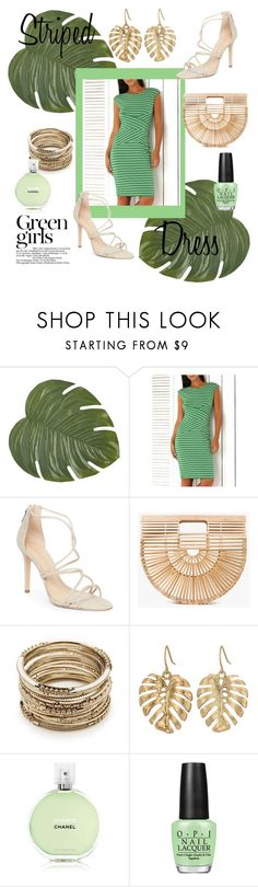 """""""Untitled #333"""" by tanya-moody ❤ liked on Polyvore featuring Pier 1 Imports, Schutz, Cult Gaia, Sole Society, The Sak, Green Girls, Chanel and OPI"""
