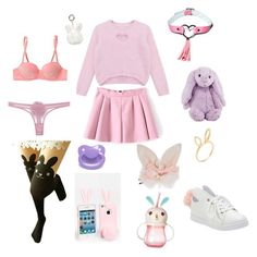 """""""Daddy's little bunny"""" by mills211 ❤ liked on Polyvore featuring Kate Spade, Chicnova Fashion, Jellycat, Jacquie Aiche, Valfré, Dorothy Perkins, Gilda & Pearl, Blush Lingerie and Monsoon"""