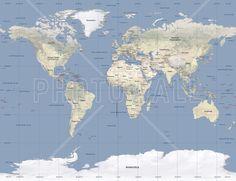 World Map - Wall Mural & Photo Wallpaper - Photowall
