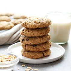 100% Whole Grain Chewy Oatmeal Cookies