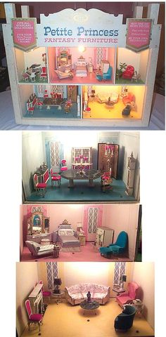 Petite Princess dollhouse furniture. Still have some pieces from my childhood and have collected others. <3