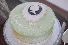 Jane Austen Tea Party Bridal Shower #bridalshower #cake