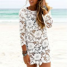 Short Summer Lace Dress #dress #fashion #summerdress #style #shortdress #sexydress