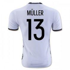 Tyskland 2016 Muller 13 Hjemmebanetrøje Kortærmet.  http://www.fodboldsports.com/tyskland-2016-muller-13-hjemmebanetroje-kortermet-1.  #fodboldtrøjer