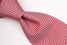 ROBERT TALBOTT BEST OF CLASS Silver Red mens Silk Tie #RobertTalbott #Tie