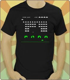 Space Invaders - The T-shirt! Every kid who grew up in the 80's remembers this classic! $6