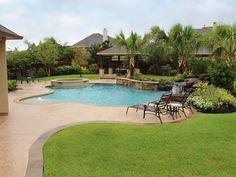 Natural Free Form Swimming Pools Design 256