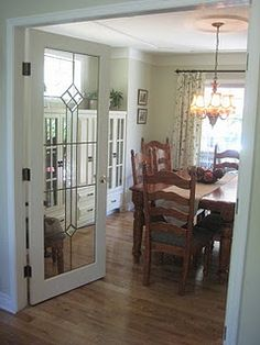 Merveilleux Dining Room. Hmmmm... Add Doors? Playroom Paint, Glass Front Door
