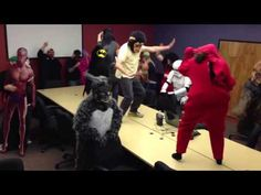 Jackie, Tony, Donnie and friends do The Harlem Shake at 100.3 The Peak in Albuquerque