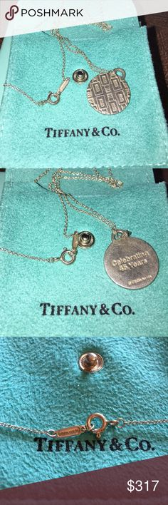 "SALE 🦋Tiffany&Co. Necklace Authentic Tiffany necklace great condition. 10"" with pendant. Tiffany & Co. Jewelry Necklaces"