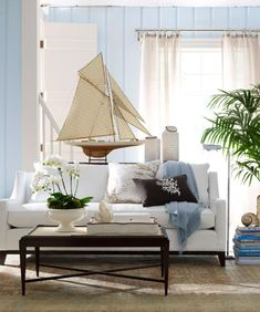 Ocean Blue Living Rooms