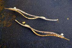 Brincos em prata e ouro   Velu