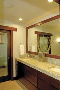 Martha Rain Water With Heavy Cream Trim Love The Dark Wood Cabinets Maybe For Bathroom And Kitche