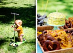 Love the idea of a NY-themed picnic party - pretzels, hot dog-inspired sugar cookies, you name it!