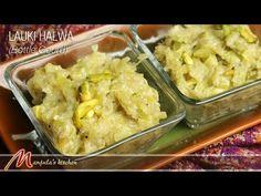 Lauki (Bottle Gourd) Halwa Recipe by Manjula Indian Dessert Recipes, Indian Sweets, Sweets Recipes, Dinner Recipes, Ethnic Recipes, Indian Pudding, Nutrition, Classic Desserts, Kitchen Recipes