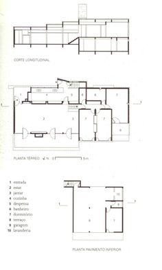 Joaquim Guedes - Francisco Landi House (Plan & Section)