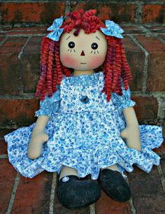 Primitive Raggedy Blossom Doll PDF E Pattern by appleorchards