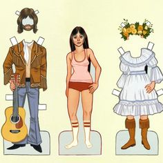 SALE OVER 50 OFF Indie DressUp Giclee Print by ckuhwald