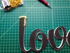 Dollar Store Crafts | Letter Art with Thumb Tacks - DIY Ready | DIY Projects - DIY Ready | DIY Projects