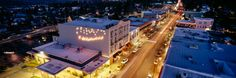 Ashland, Oregon. I love it when it's lit up during the holidays.