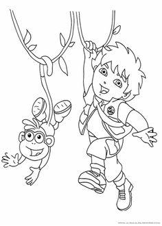 Die 54 Besten Bilder Von Ausmalbilder Dora Dora The Explorer