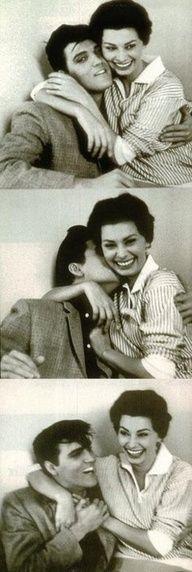 Elvis & Sofia Loren ♥ #ElvisSerendipity #Elvis #Presley The King of Rock and Roll