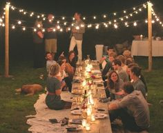 Summer Soiree | love the lights!