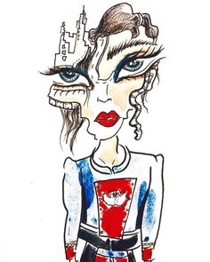 Gabriello De Surr's sketch of Marc Jacobs Spring '16