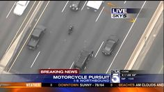 Southern California High Speed Police Chase Motorcycle With A Plane (KTLA)