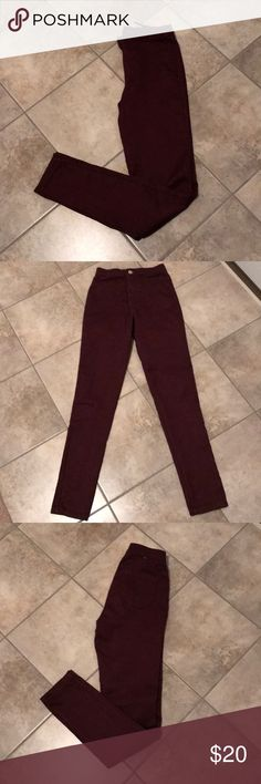 American Apparel Jeans American Apparel Jeans inseam 30  Great condition and great stretch Sz S burgundy color American Apparel Pants Skinny