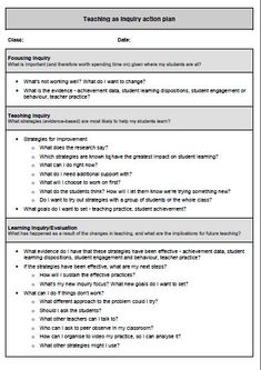 Teaching as inquiry action plan / Teaching as inquiry - practical tools for teachers / Teaching as inquiry / Assessment in the classroom / Home - Assessment