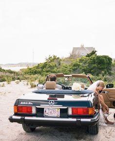 Beachy getaway car: http://www.stylemepretty.com/massachusetts-weddings/falmouth/2016/02/17/classic-cape-cod-wedding/ | Photography: AE Stelzer - http://www.aestelzerphotoblog.com/