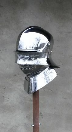 Tom Biliter's sallet by Jiří Klepač, based on one in the Met made by Lorenz Helmschmid for Emperor Maximilian I. http://www.metmuseum.org/collection/the-collection-online/search/23213