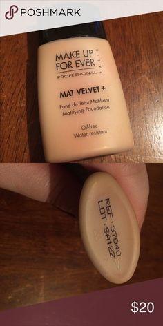 Makeup forever mat velvet #40 foundation Makeup forever mat velvet #40 foundation 3/4 left used condition Makeup Forever Makeup Foundation