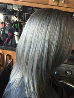 Dove grey igora Royal my client loved it ❤️❤️