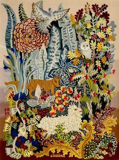 Naive Art, Cute Illustration, Rug Hooking, Decoration, Textile Art, Printing On Fabric, Art Drawings, Weaving, Wall Art
