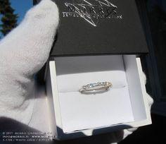 Solid White Gold Diamond Ring Unique Diamond Ring Wedding