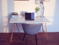 DIY  Skrivebord med kobberben  Acie  Stylista